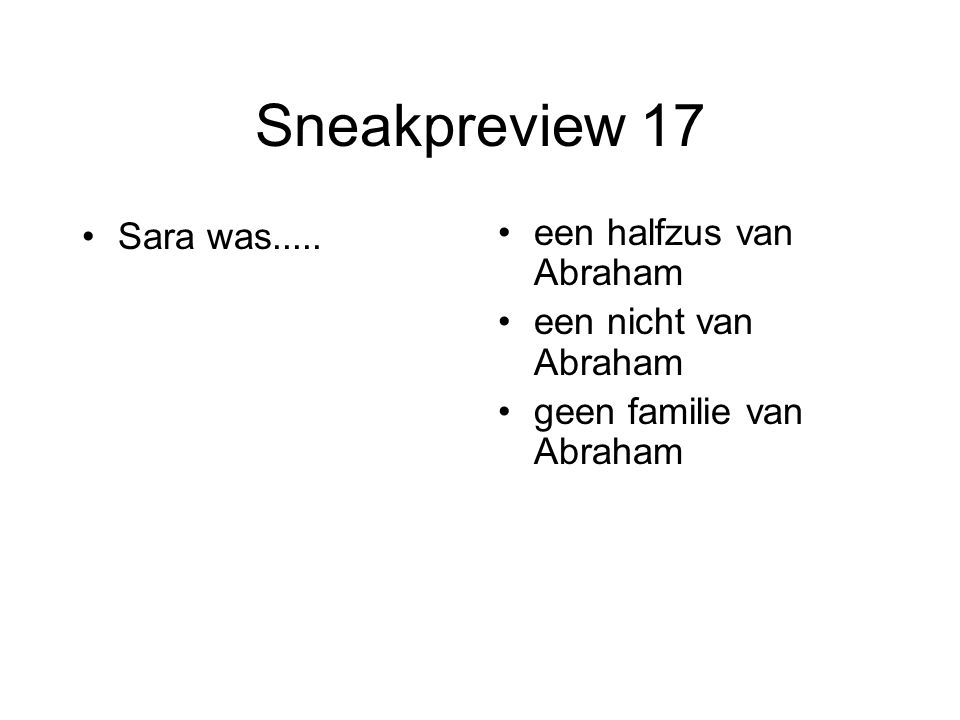 Sneakpreview 17 Sara was.....