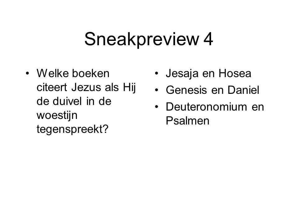 Sneakpreview 15 Wanneer is er in de bijbel voor het eerst sprake van jaargetijden.