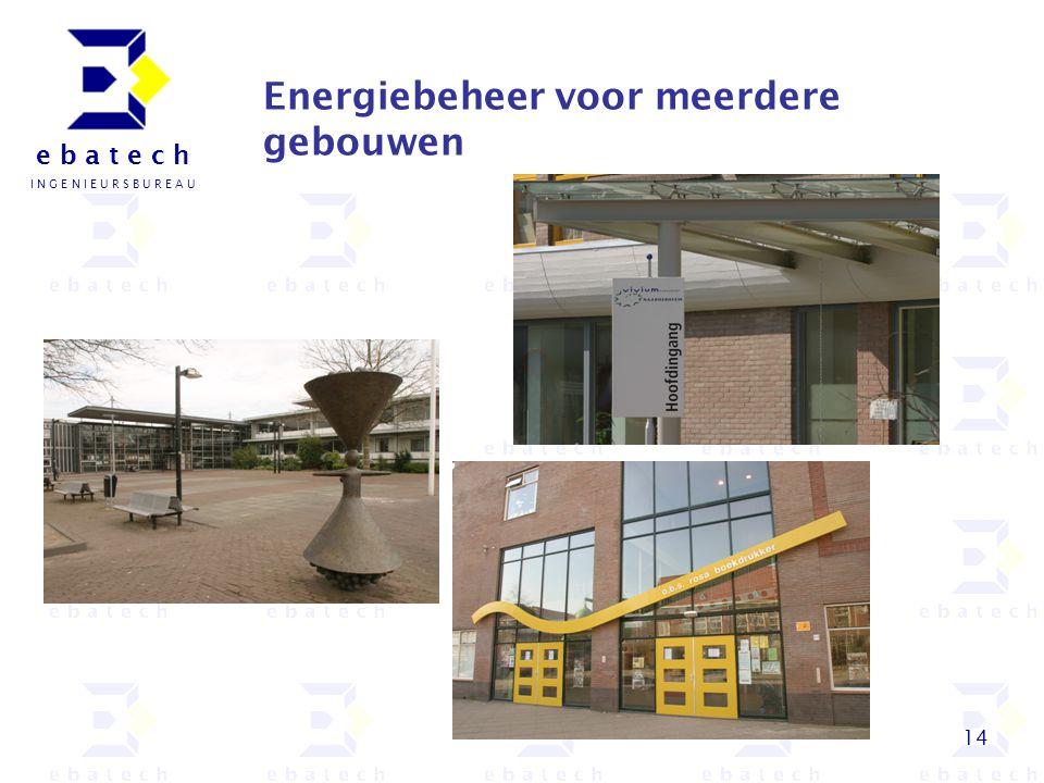 14 e b a t e c h I N G E N I E U R S B U R E A U Energiebeheer voor meerdere gebouwen