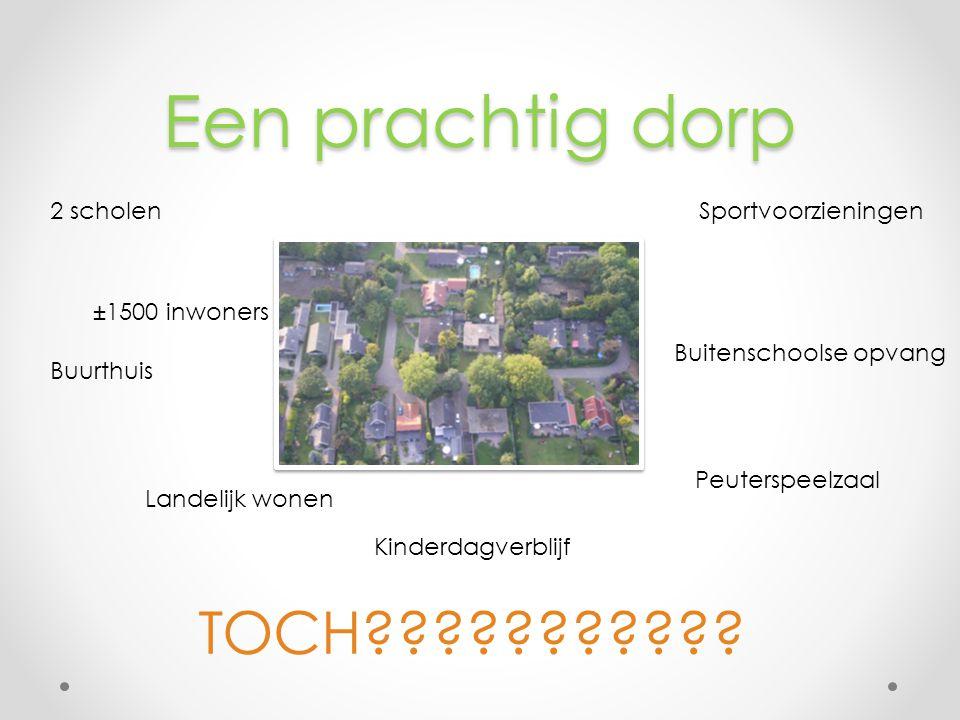 Een prachtig dorp 2 scholenSportvoorzieningen Kinderdagverblijf Buurthuis Buitenschoolse opvang Landelijk wonen Peuterspeelzaal TOCH .