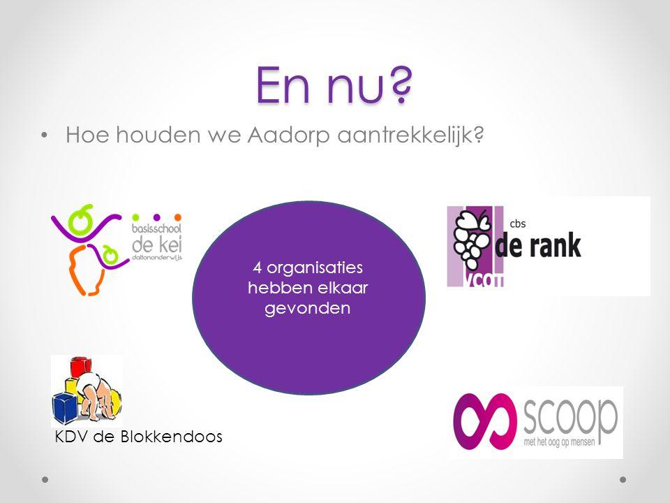 En nu Hoe houden we Aadorp aantrekkelijk 4 organisaties hebben elkaar gevonden KDV de Blokkendoos