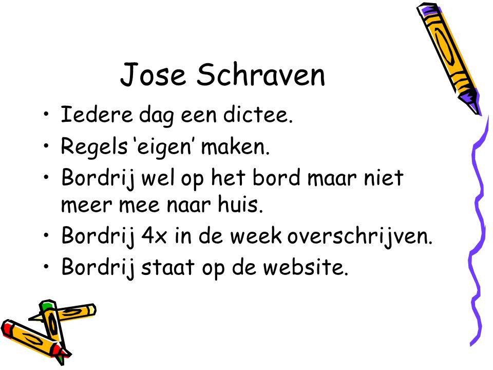 Jose Schraven Iedere dag een dictee.Regels 'eigen' maken.