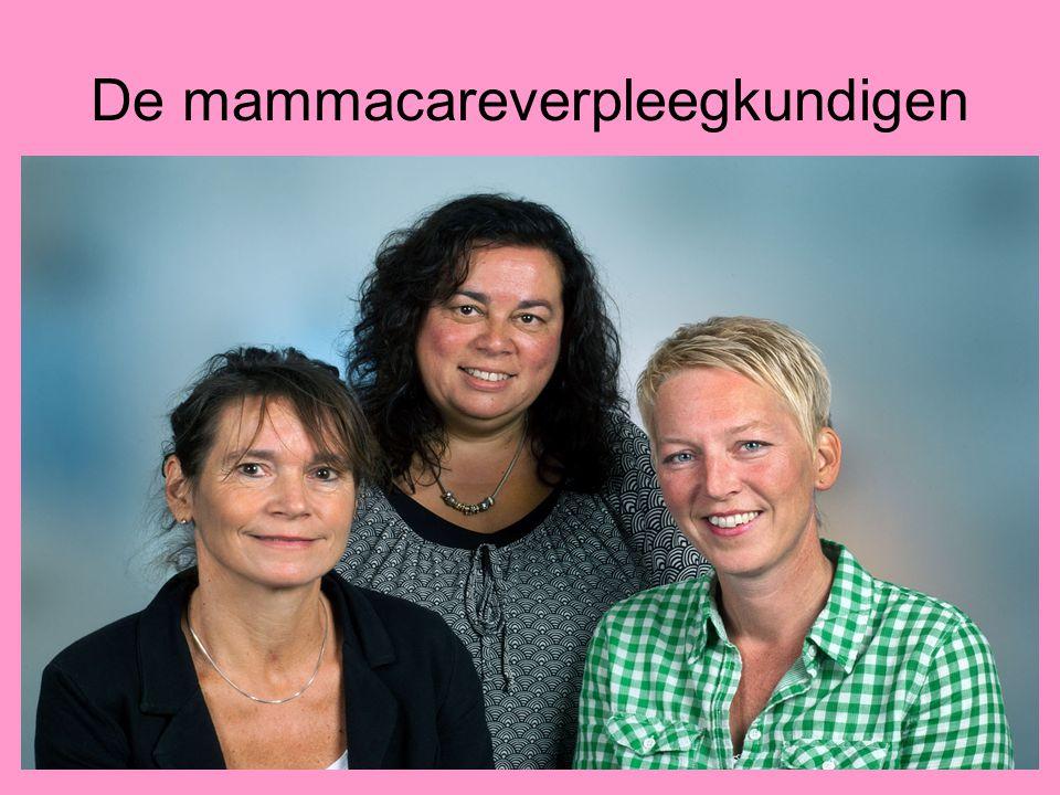 De mammacareverpleegkundige Aanwezig bij MDO Aanwezig bij bespreken behandeladvies * 1 e opvang en verduidelijking geven * Begeleiden naar Opname, lab, ecg
