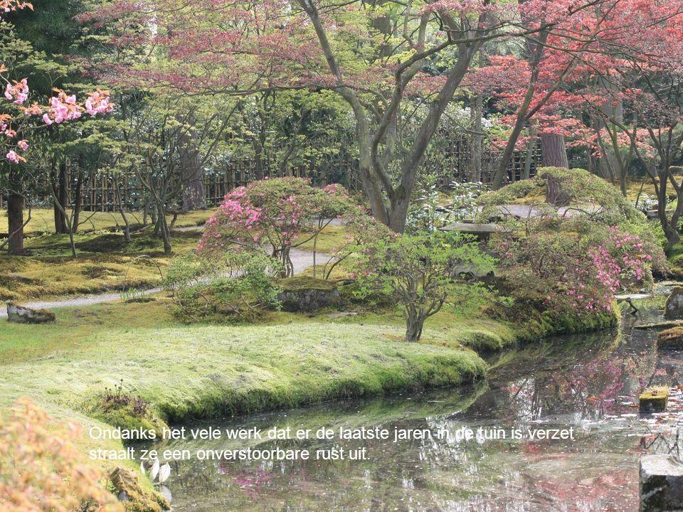 Ondanks het vele werk dat er de laatste jaren in de tuin is verzet straalt ze een onverstoorbare rust uit.