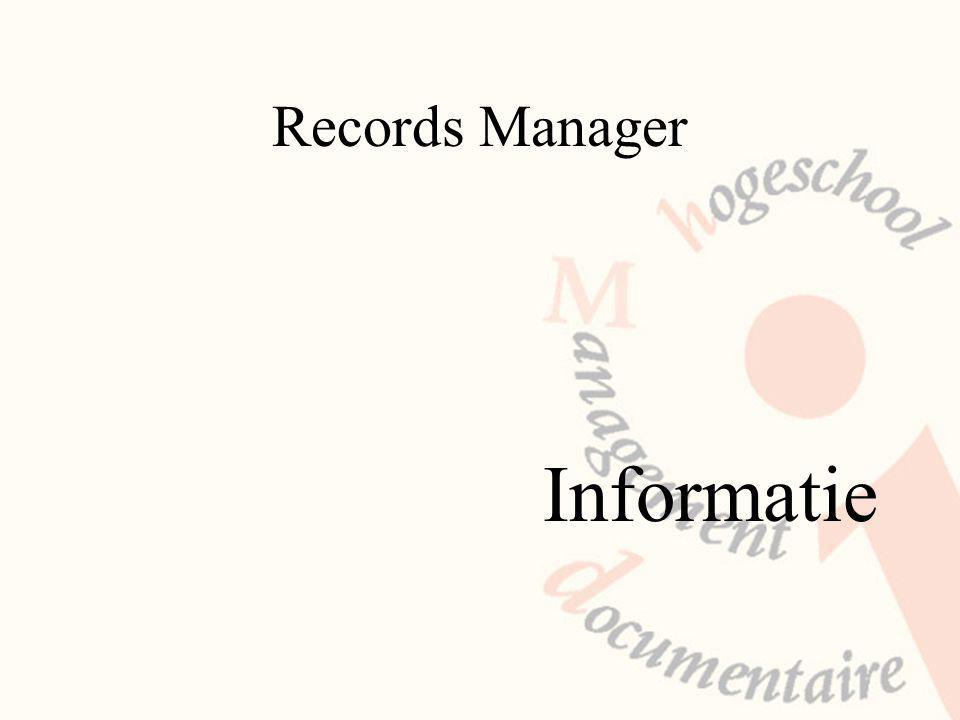 Records Manager Informatie