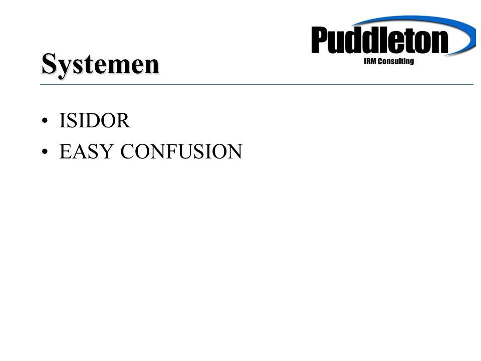 ISIDOR EASY CONFUSION Systemen