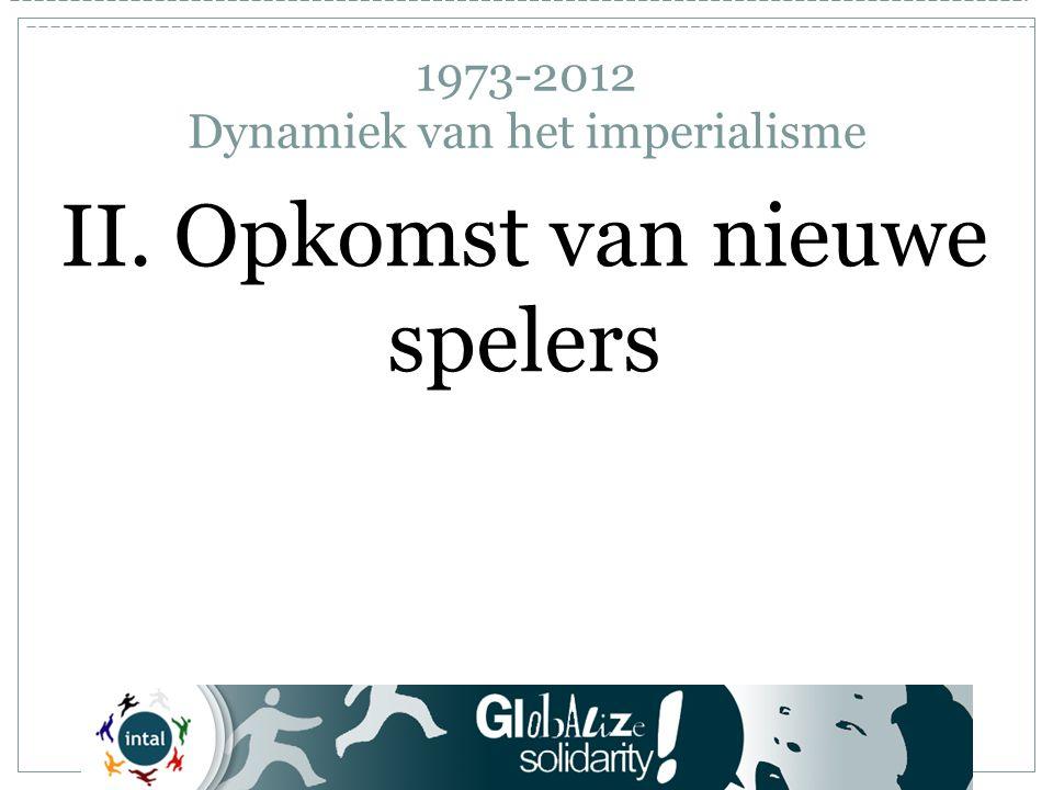 1973-2012 Dynamiek van het imperialisme II. Opkomst van nieuwe spelers