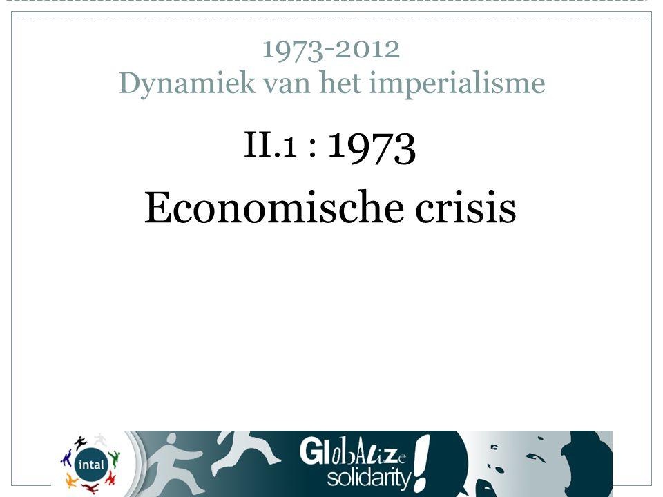 1973-2012 Dynamiek van het imperialisme Wat zijn de Brics – 2 .