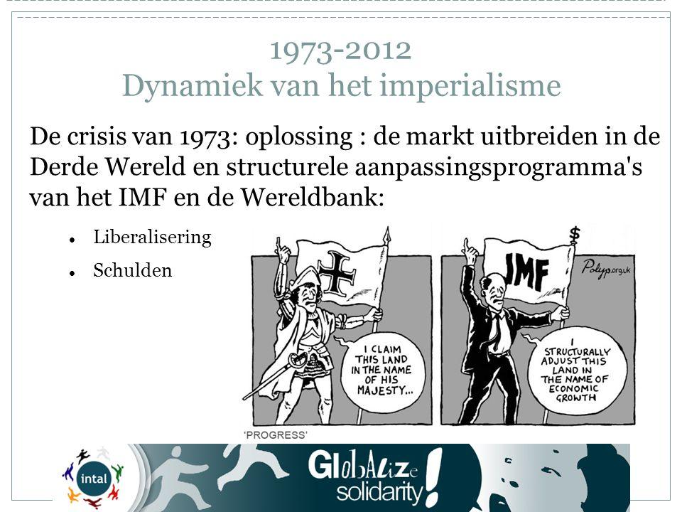 1973-2012 Dynamiek van het imperialisme De opkomende landen organiseren zich Shanghai Cooperation Organisation Een invloedszone tegen het VS- en Europees imperialisme in Azië