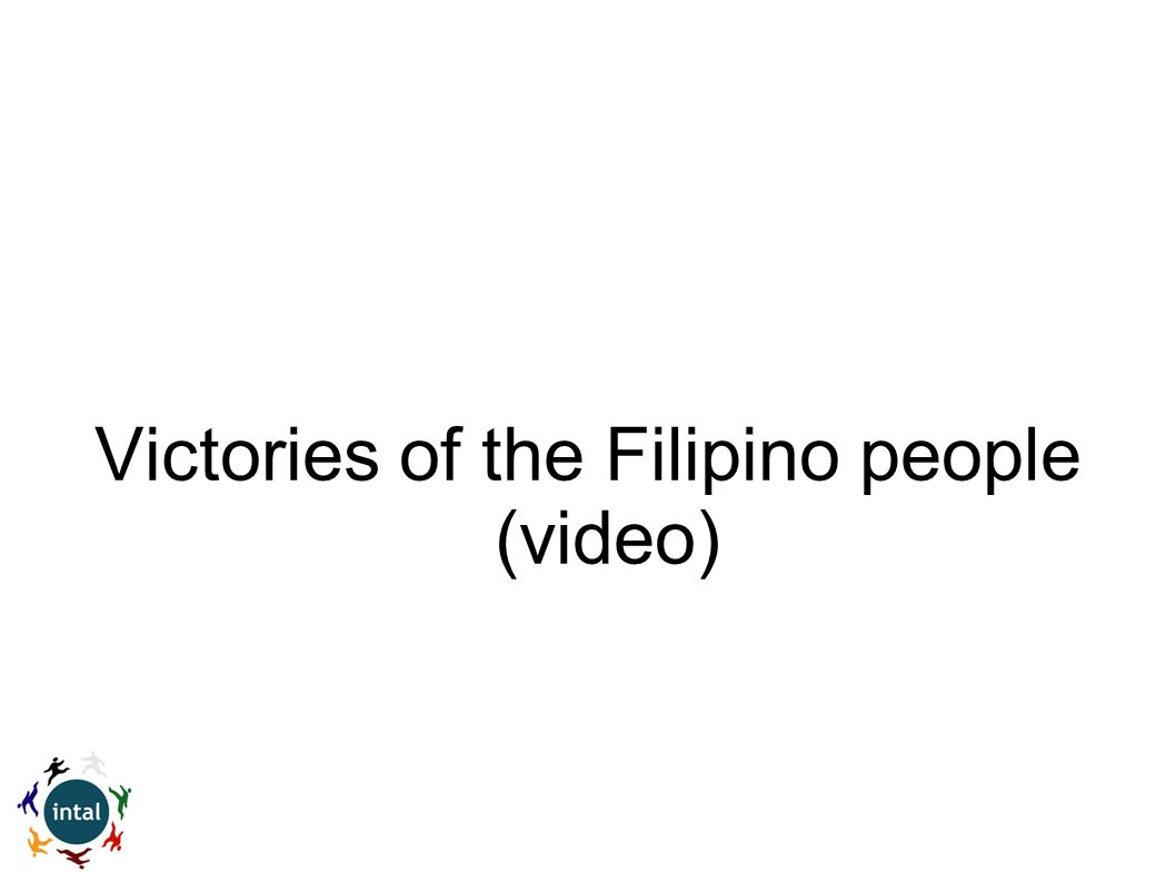 Victories of the Filipino people (video)