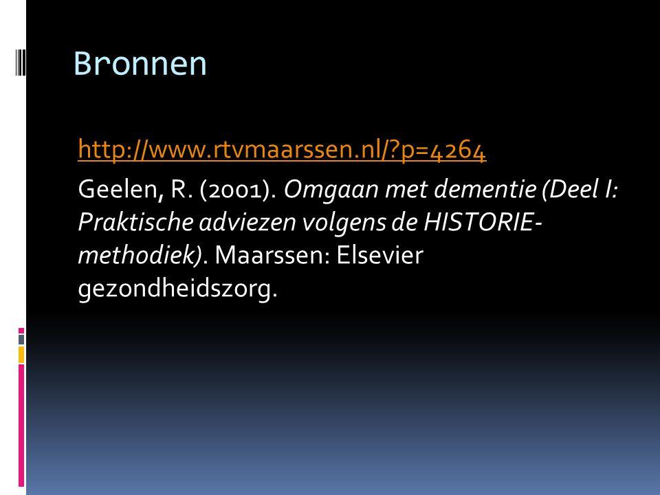 Bronnen http://www.rtvmaarssen.nl/ p=4264 Geelen, R.