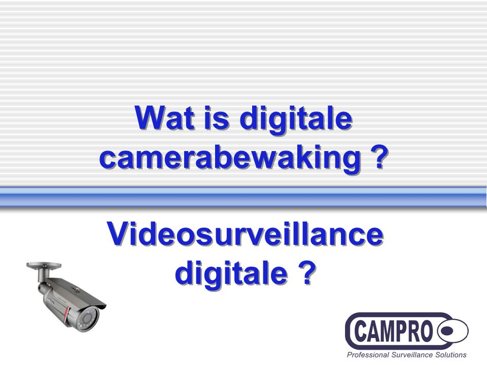 Wat is digitale camerabewaking Videosurveillance digitale