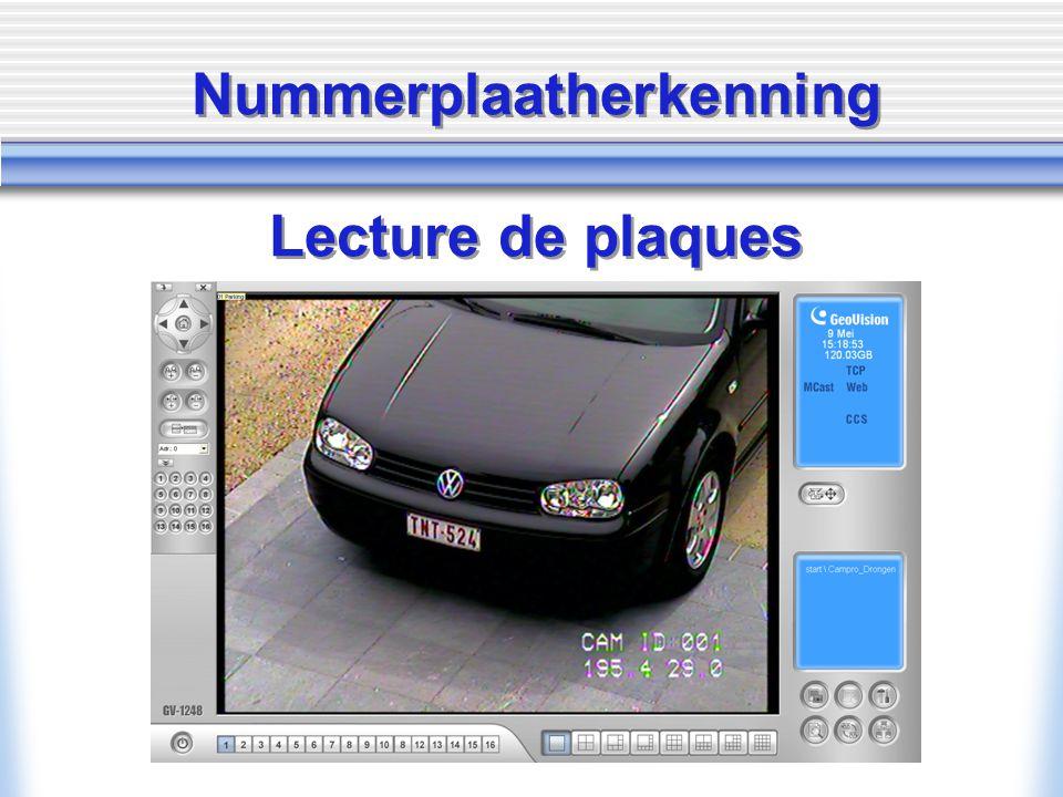 Nummerplaatherkenning Lecture de plaques