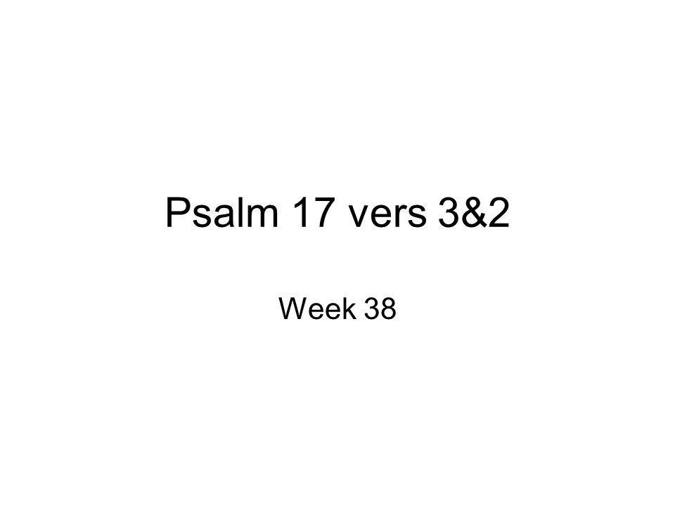 Psalm 17 vers 3&2 Week 38