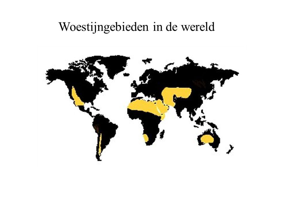 Woestijngebieden in de wereld
