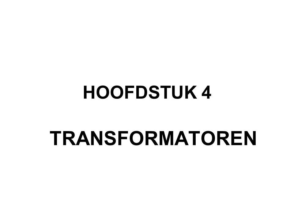 4.1 EENFASE TRANSFORMATOREN
