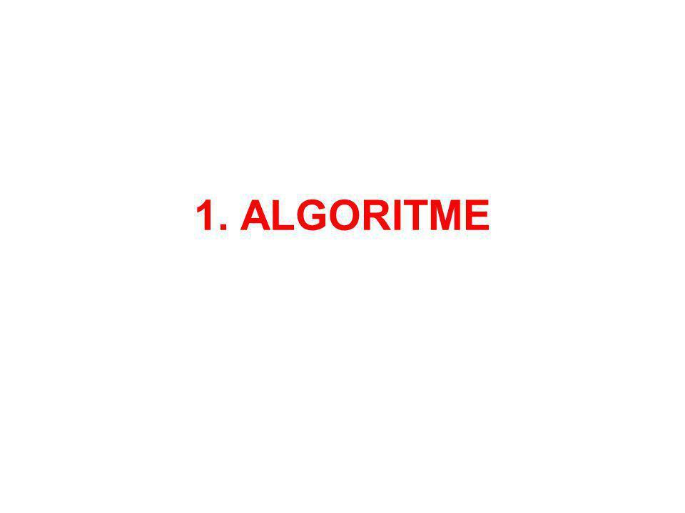 1.1 DEFINITIE = rij opdrachten → beginsituatie →Einddoel in bepaalde tijd Voorbeelden: Bouwpakket Taart Woord opzoeken