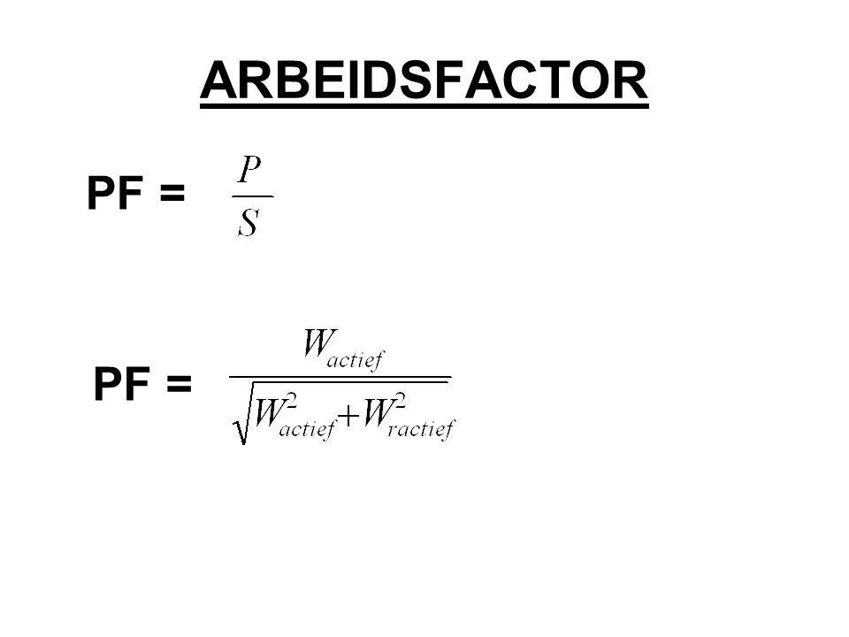 ARBEIDSFACTOR PF =