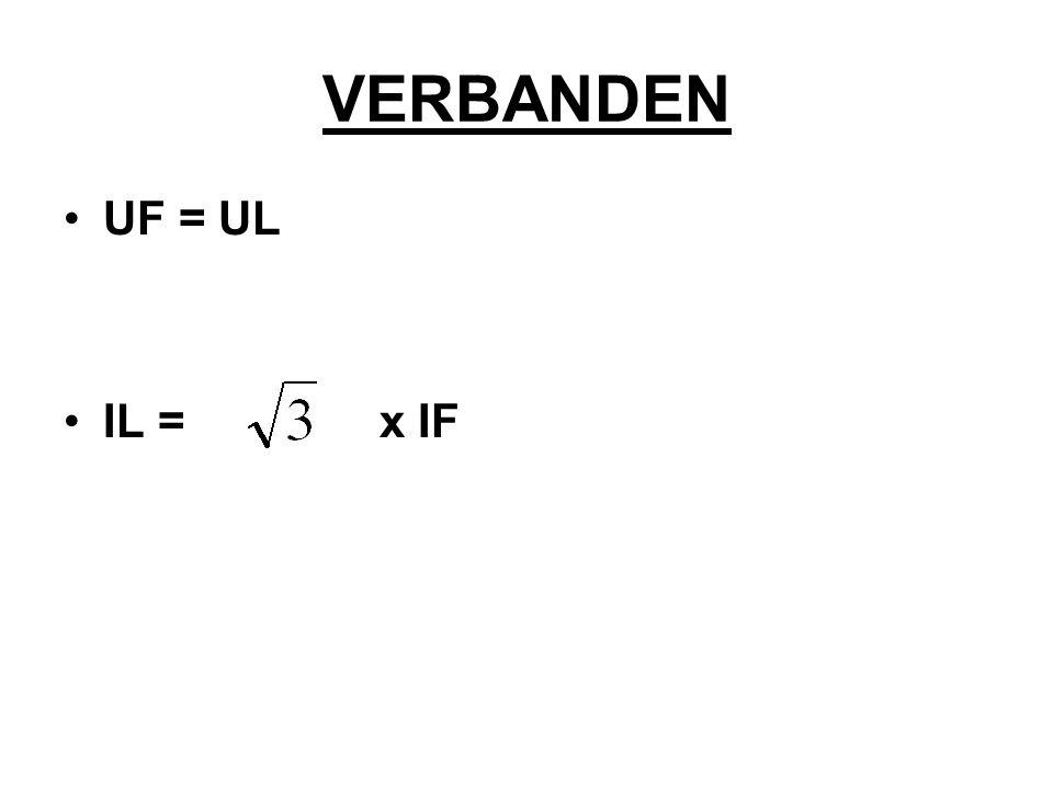 VERBANDEN UF = UL IL = x IF