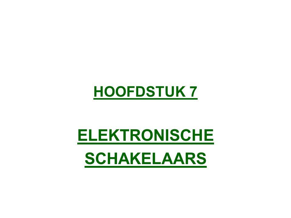 HOOFDSTUK 7 ELEKTRONISCHE SCHAKELAARS