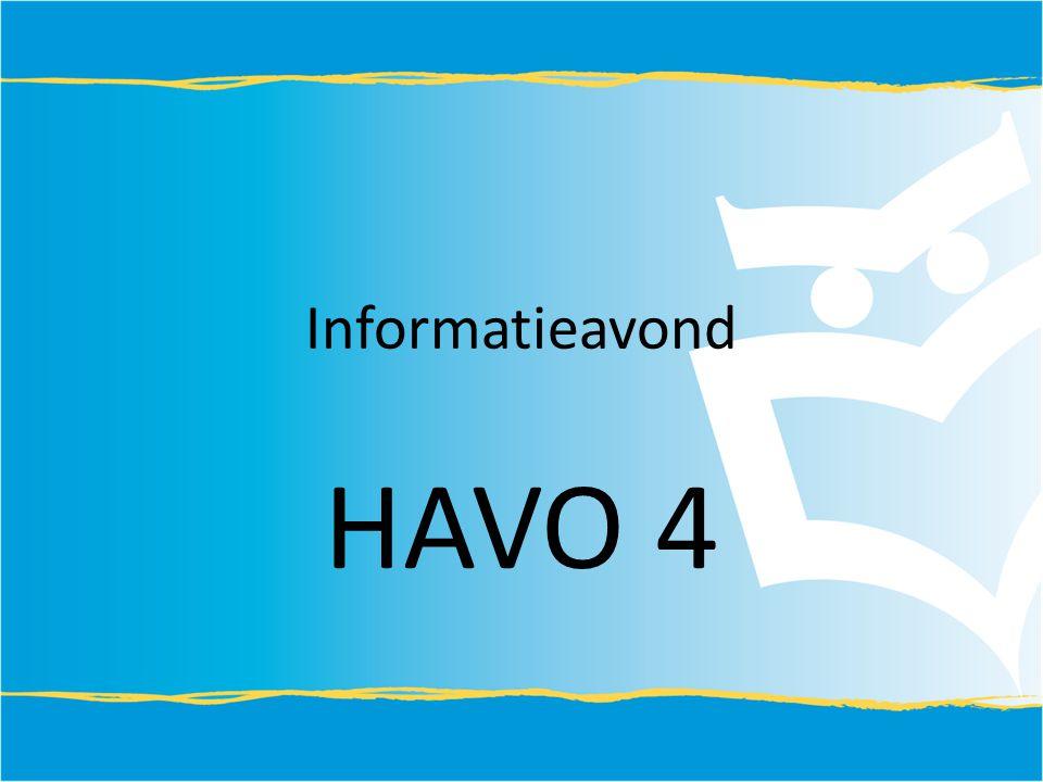Informatieavond HAVO 4