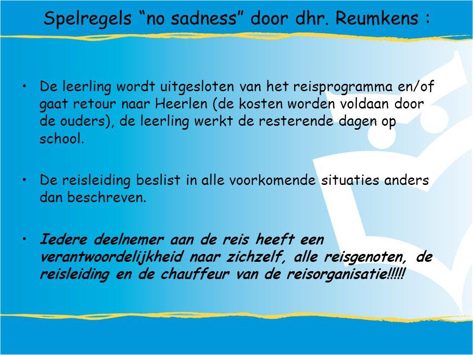 Spelregels no sadness door dhr.