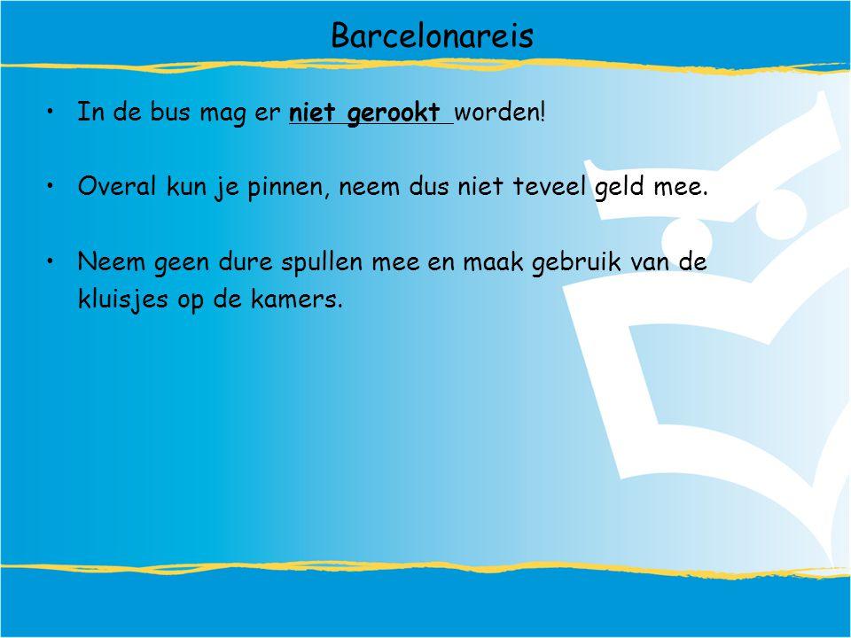 Barcelonareis In de bus mag er niet gerookt worden.