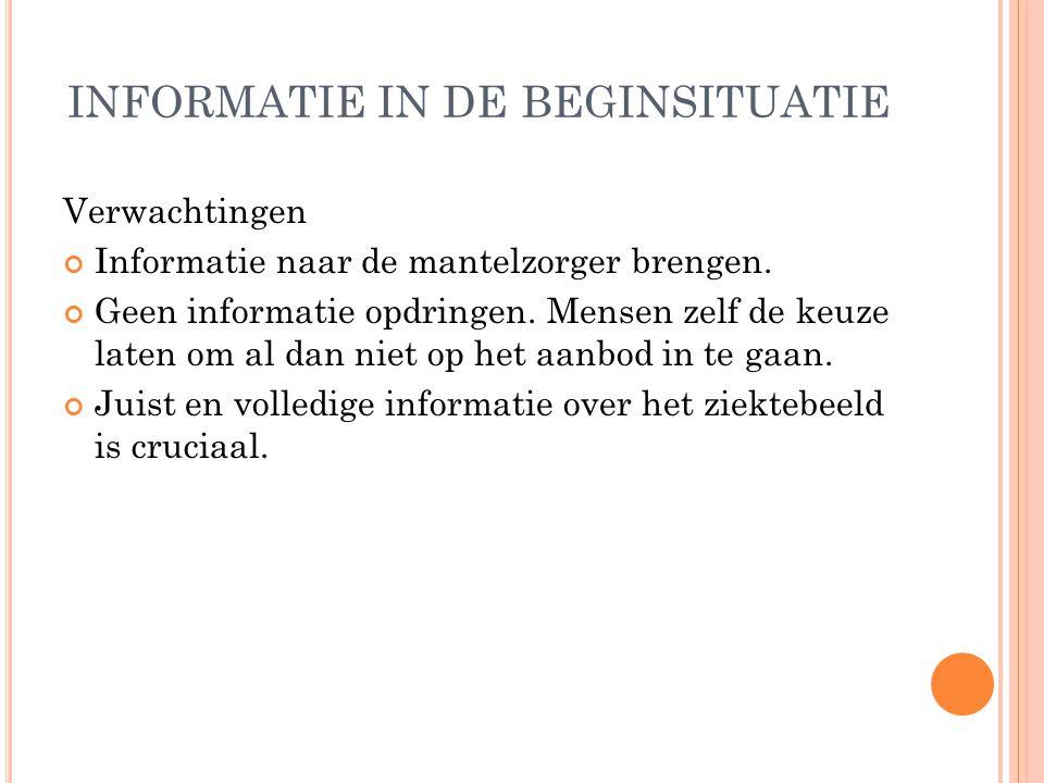 OVERZICHT Het onderzoek Situering Onderzoeksopzet Informatie in de beginsituatie Informatie in het verdere verloop Besluit