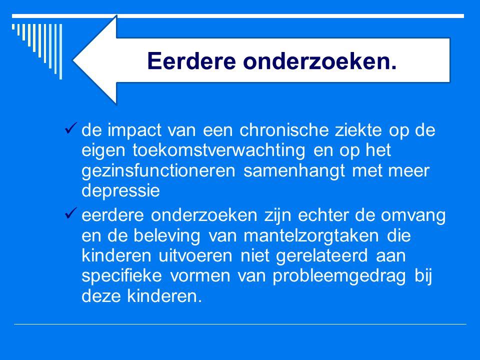 Dit onderzoek: 1.de relatie met internaliserende en externaliserende problemen, 2.