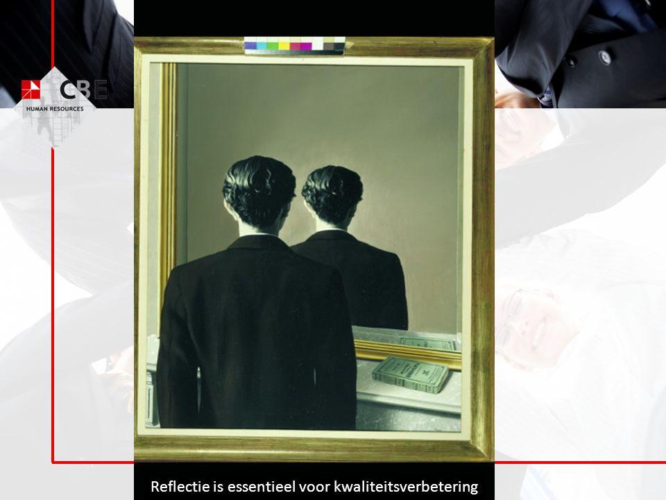 © CBE Group Reflectie is essentieel voor kwaliteitsverbetering