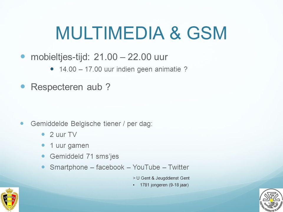 MULTIMEDIA & GSM mobieltjes-tijd: 21.00 – 22.00 uur 14.00 – 17.00 uur indien geen animatie .