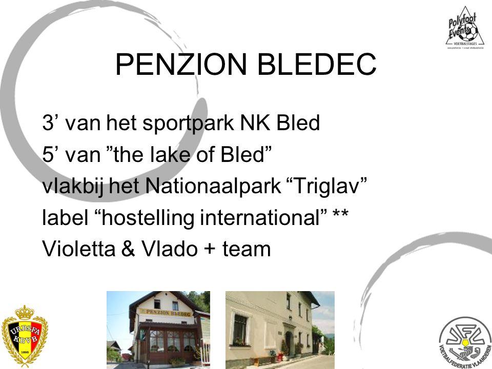 PENZION BLEDEC 3' van het sportpark NK Bled 5' van the lake of Bled vlakbij het Nationaalpark Triglav label hostelling international ** Violetta & Vlado + team