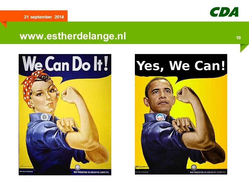 21 september 2014 10 www.estherdelange.nl