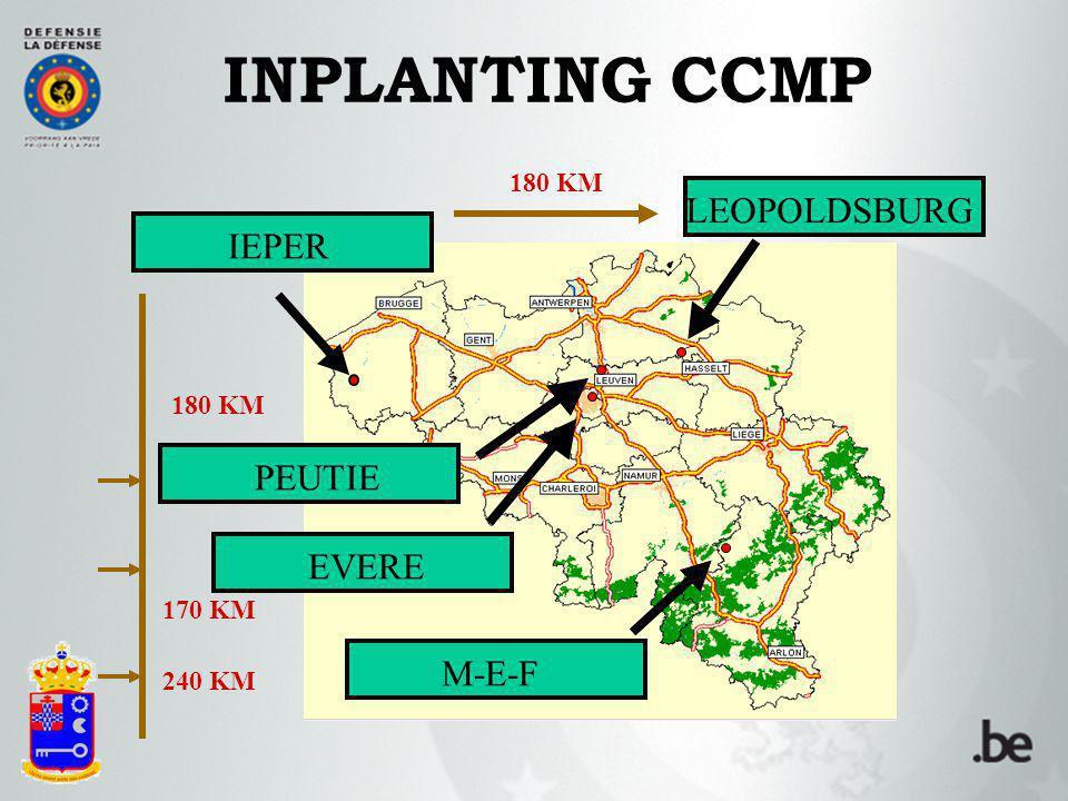 INPLANTING CCMP LEOPOLDSBURG M-E-F PEUTIE EVERE IEPER 240 KM 170 KM 180 KM