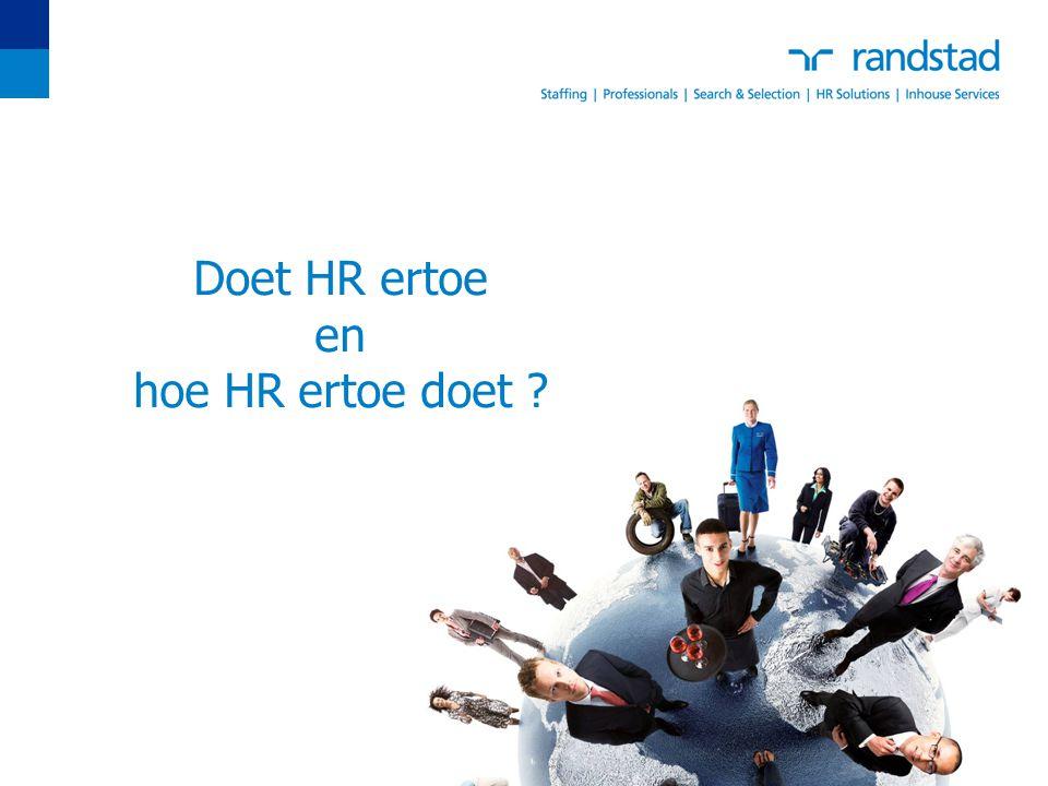 Doet HR ertoe en hoe HR ertoe doet