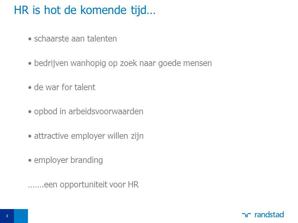 3 schaarste aan talenten bedrijven wanhopig op zoek naar goede mensen de war for talent opbod in arbeidsvoorwaarden attractive employer willen zijn employer branding …….een opportuniteit voor HR HR is hot de komende tijd…