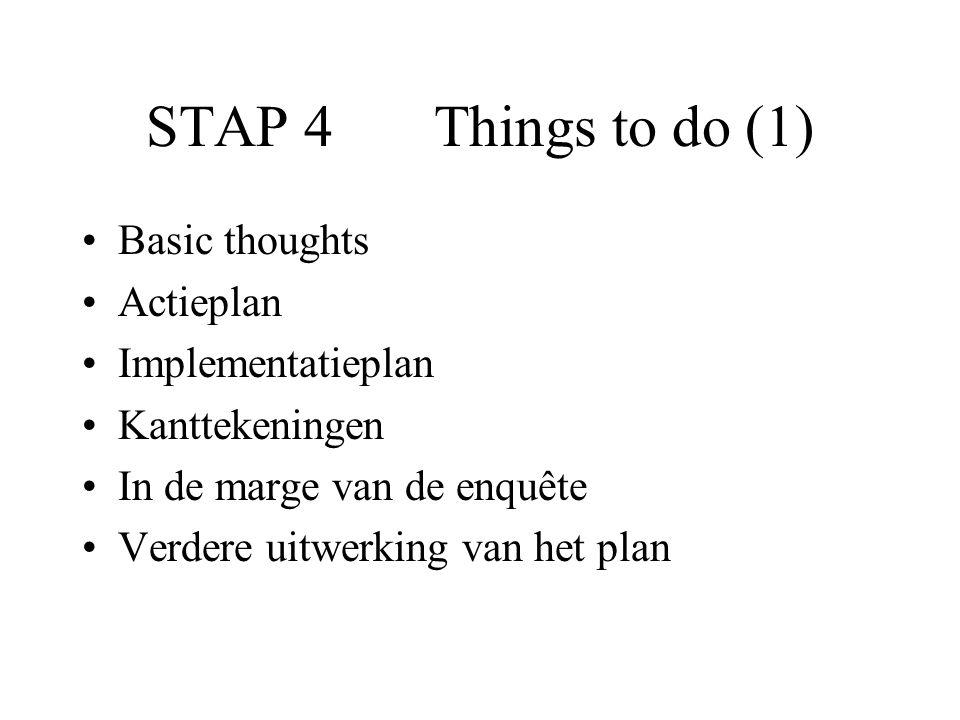 Things to do (6) In de marge van de enquête...