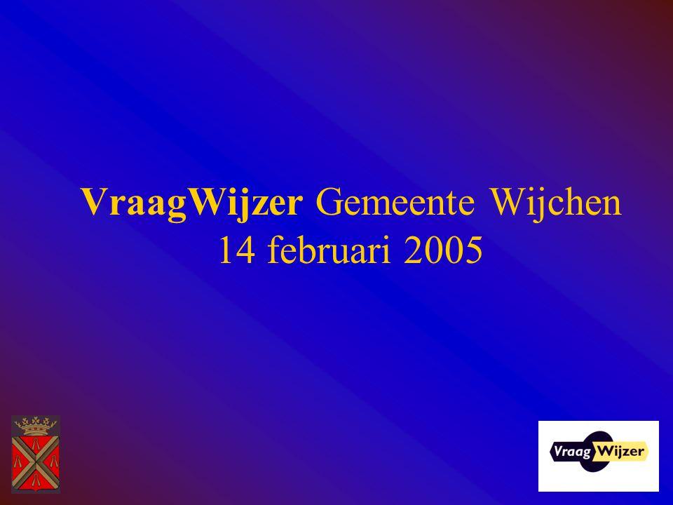 VraagWijzer Gemeente Wijchen 14 februari 2005