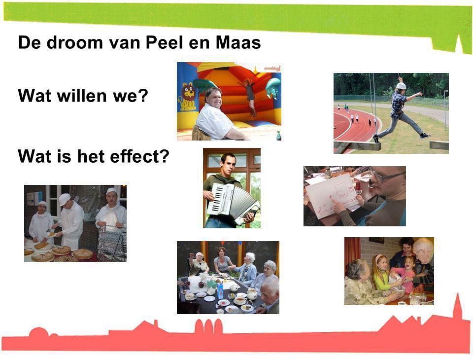 De droom van Peel en Maas Wat willen we? Wat is het effect?