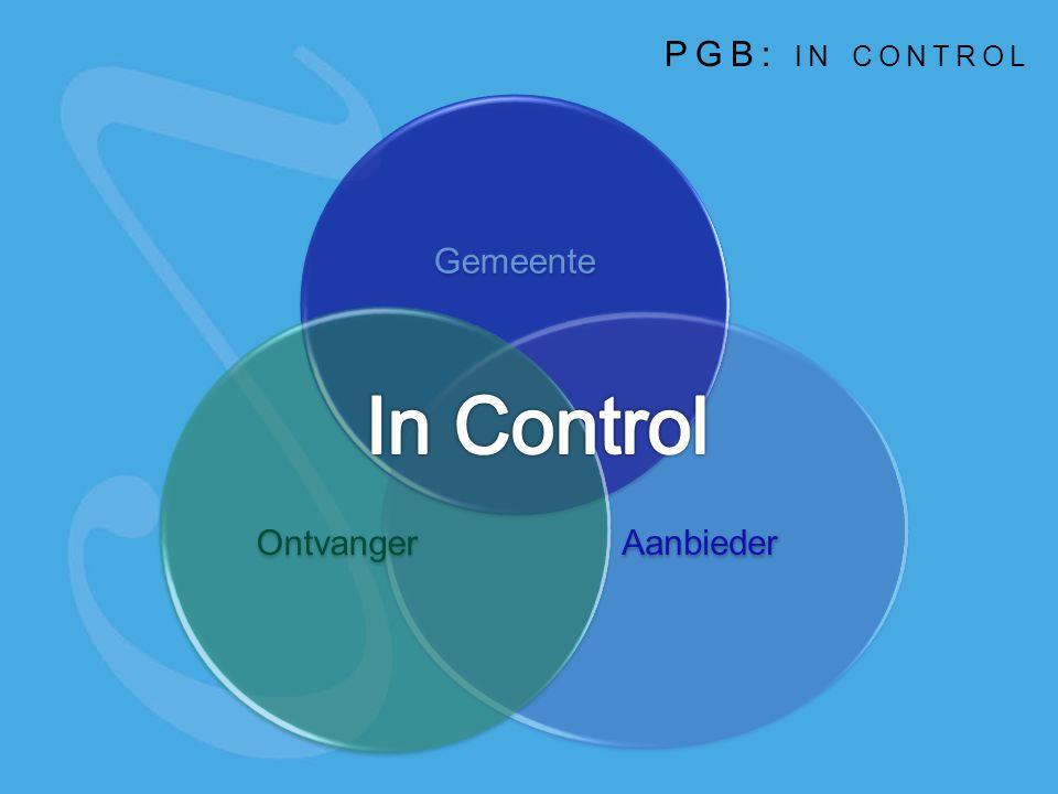 Gemeente Aanbieder Ontvanger PGB: IN CONTROL