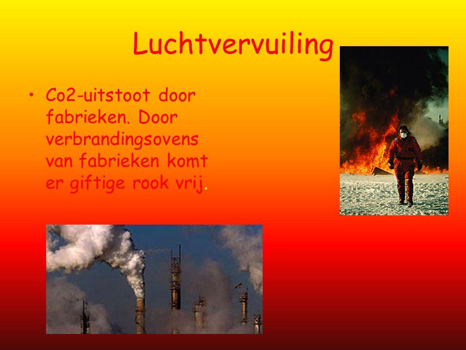 Luchtvervuiling Co2-uitstoot door fabrieken.