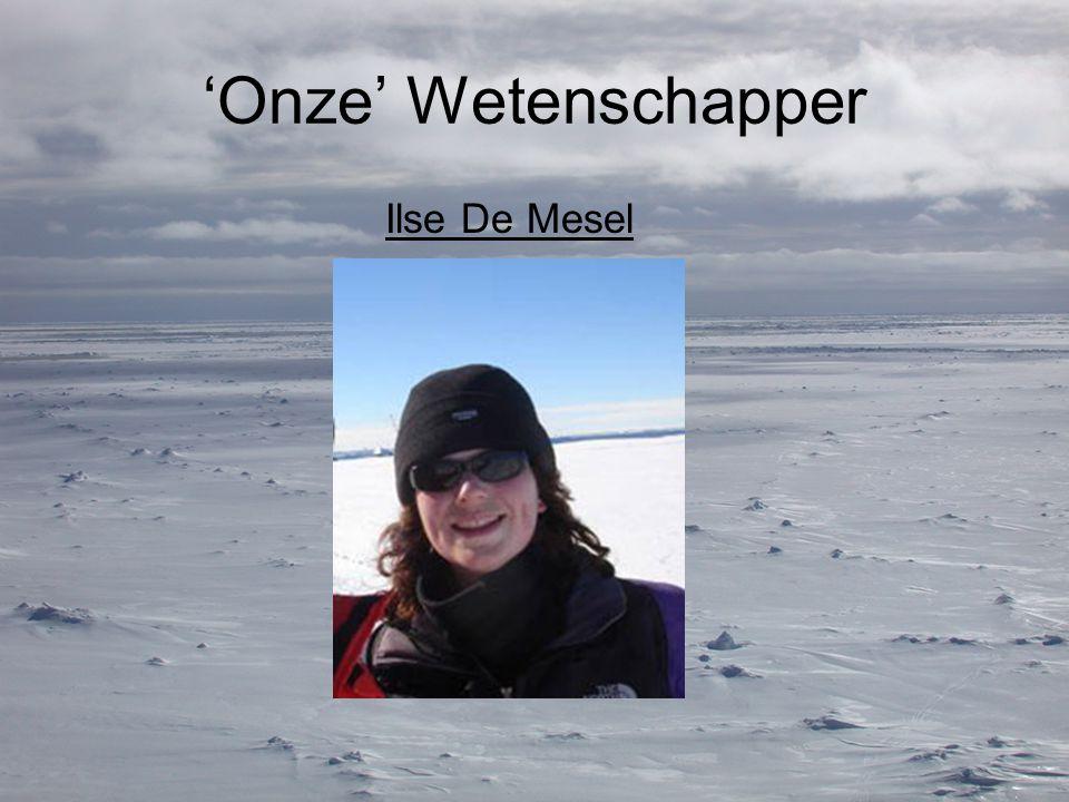 'Onze' Wetenschapper Ilse De Mesel