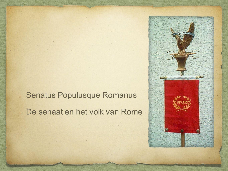 Senatus Populusque Romanus De senaat en het volk van Rome