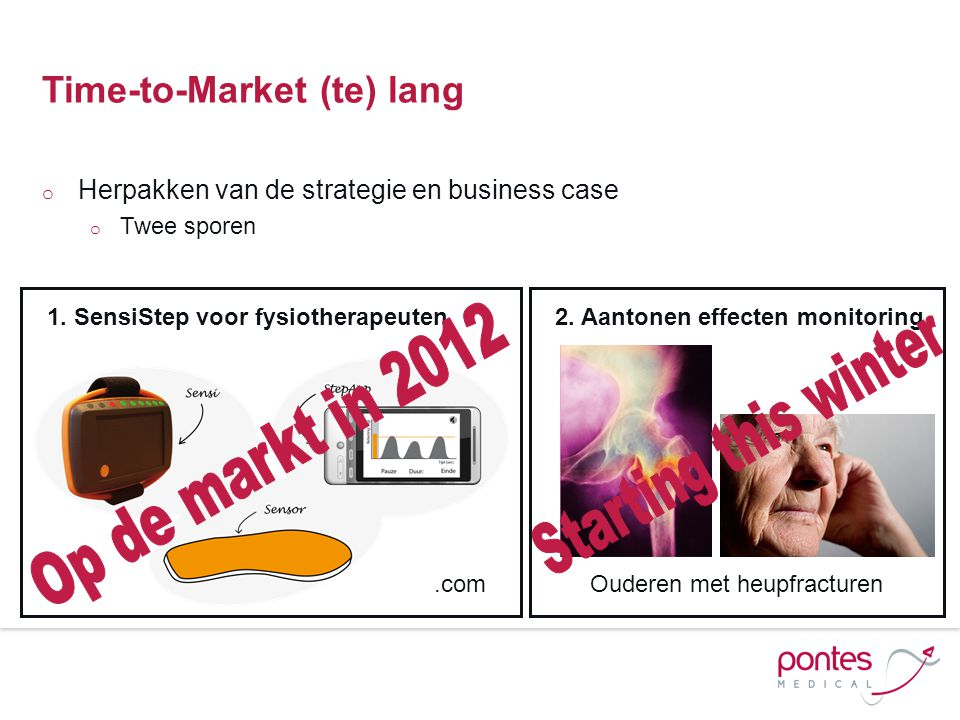 Time-to-Market (te) lang o Herpakken van de strategie en business case o Twee sporen 1.