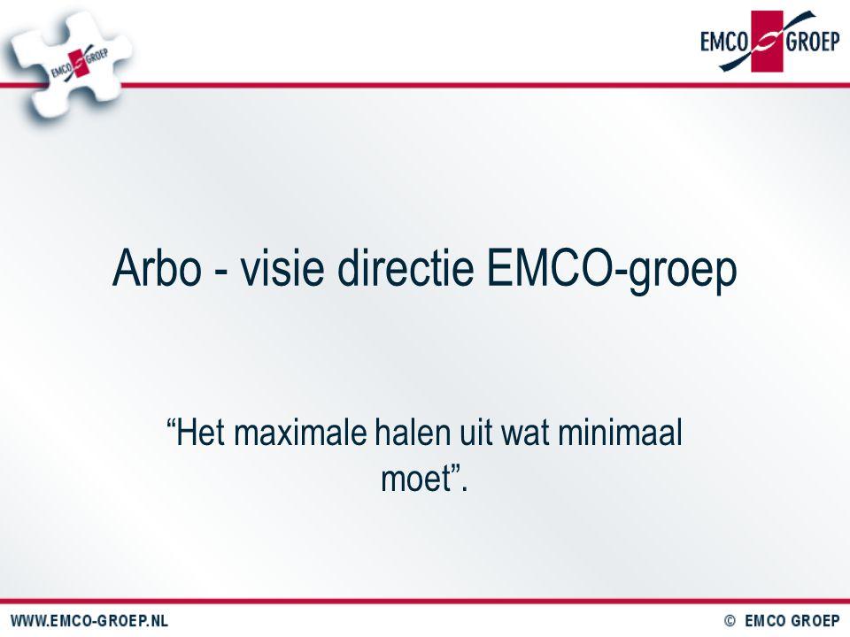 """Arbo - visie directie EMCO-groep """"Het maximale halen uit wat minimaal moet""""."""