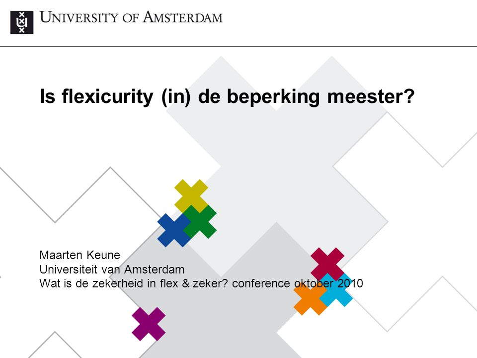 Is flexicurity (in) de beperking meester.