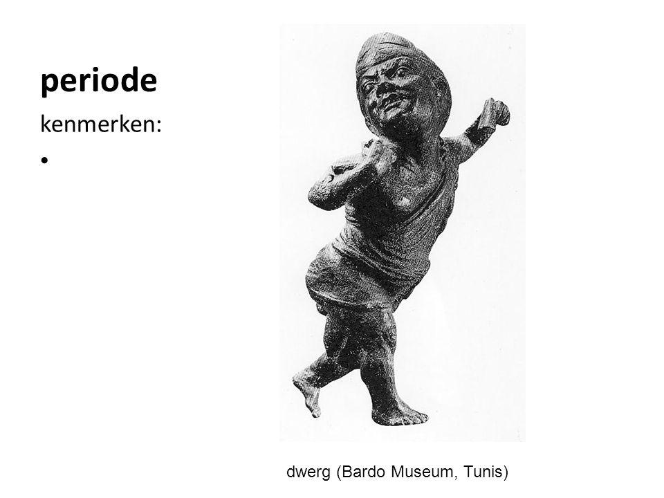 periode kenmerken: dwerg (Bardo Museum, Tunis)