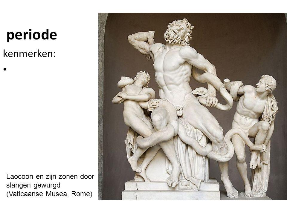periode kenmerken: Laocoon en zijn zonen door slangen gewurgd (Vaticaanse Musea, Rome)