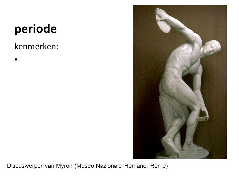 periode kenmerken: Aristodikos kouros (Nationaal Museum, Athene)