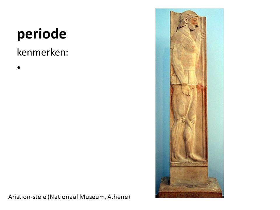 periode kenmerken: Aristion-stele (Nationaal Museum, Athene)